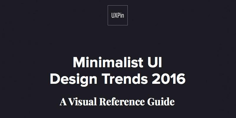 Minimalist UI Design Trends 2016